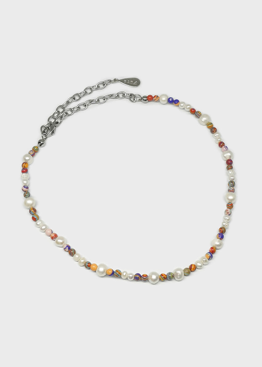 Small Freshwater Pearls Multi Colored Beads Necklace