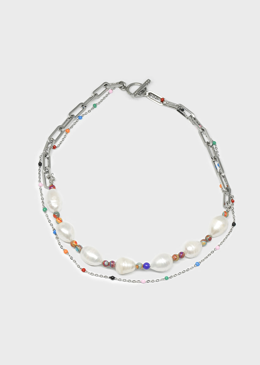 Multi Layered Choker Freshwater Pearl Necklace