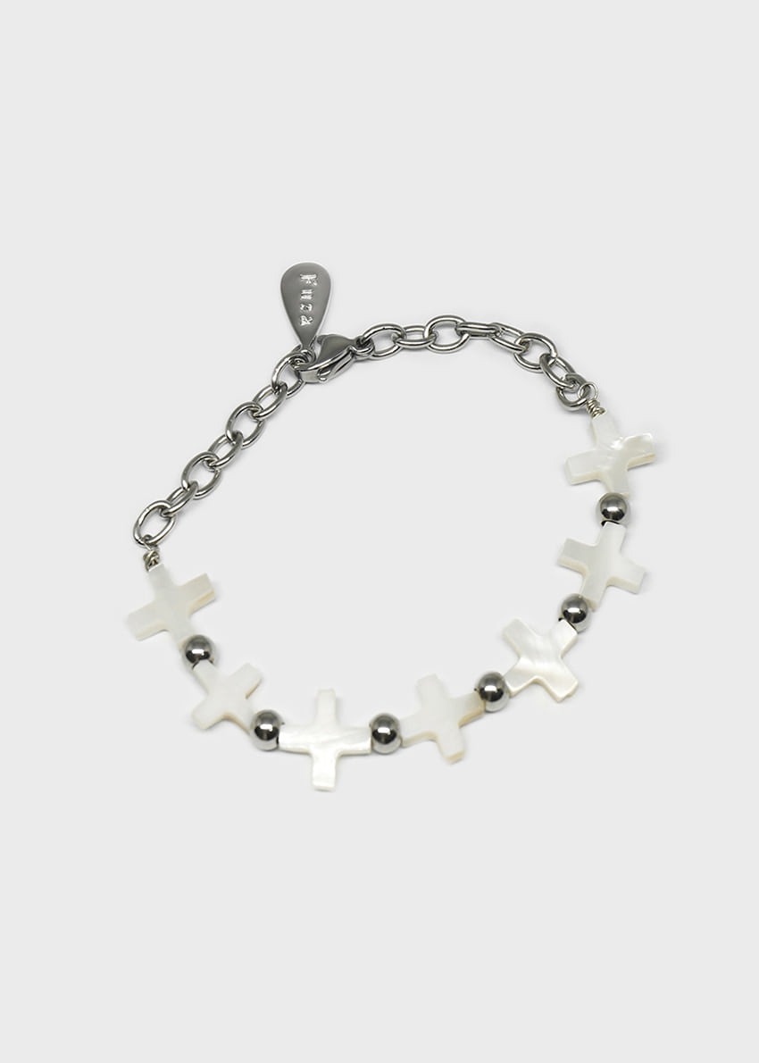 Mother of Pearl Cross Beads Bracelet