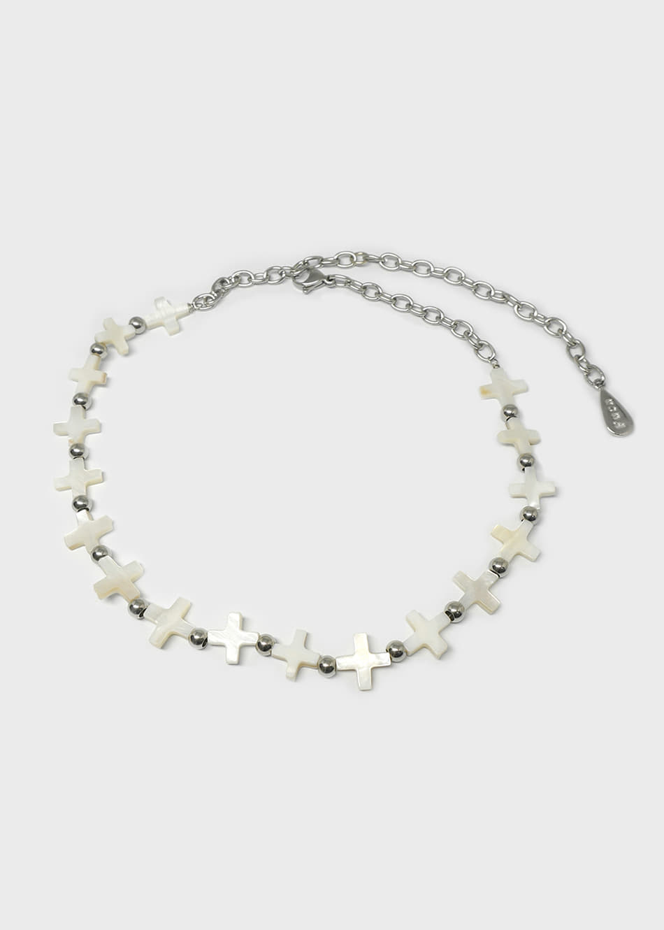 Mother of Pearl Cross Beads Necklace
