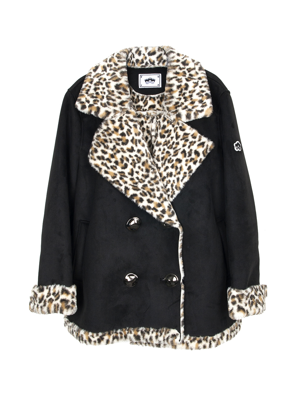 [퓨자]LEOPARD FUR BLACK SUEDE JACKET