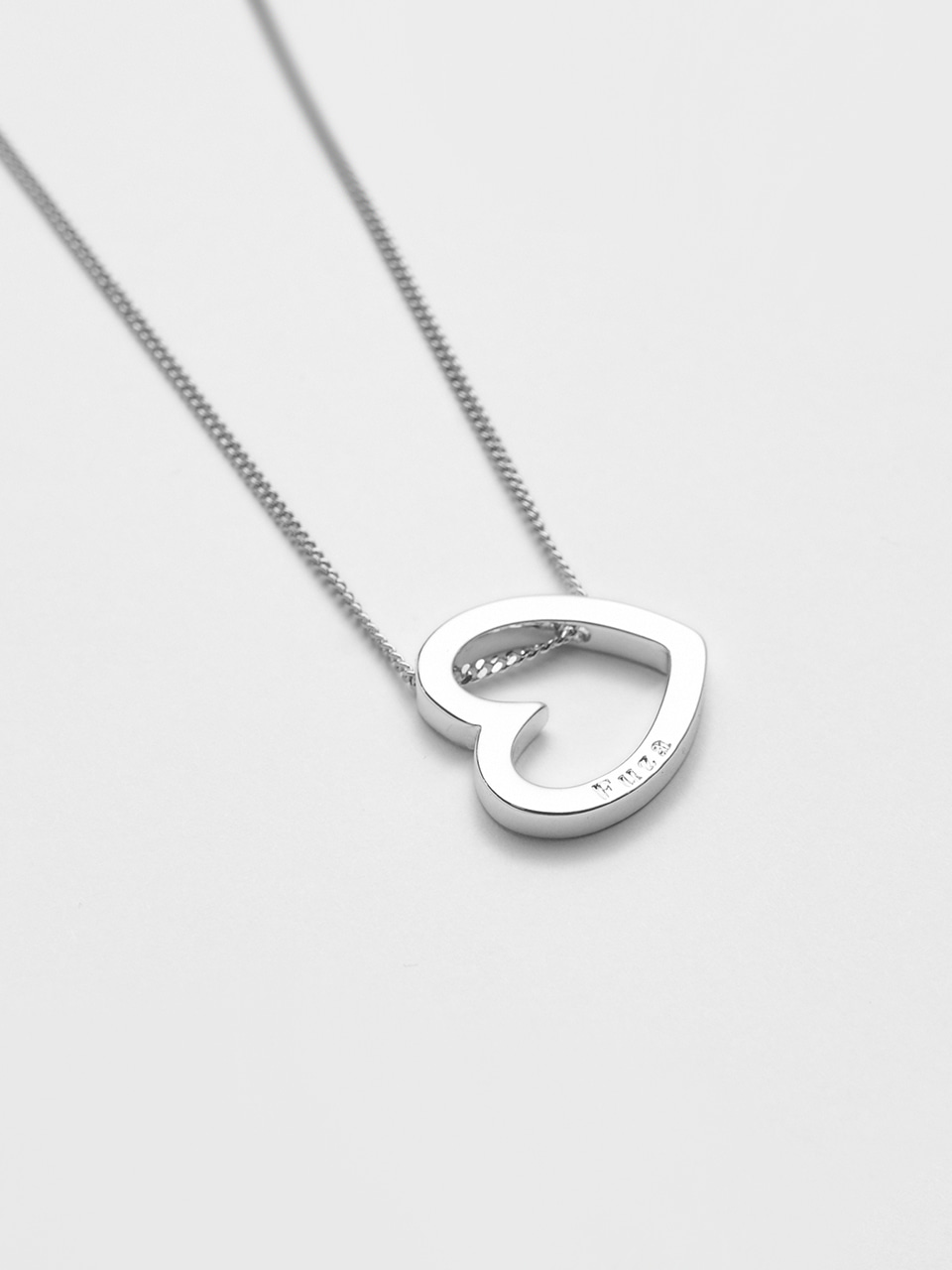 Heart Necklace Silver 하트 펜던트 실버 목걸이