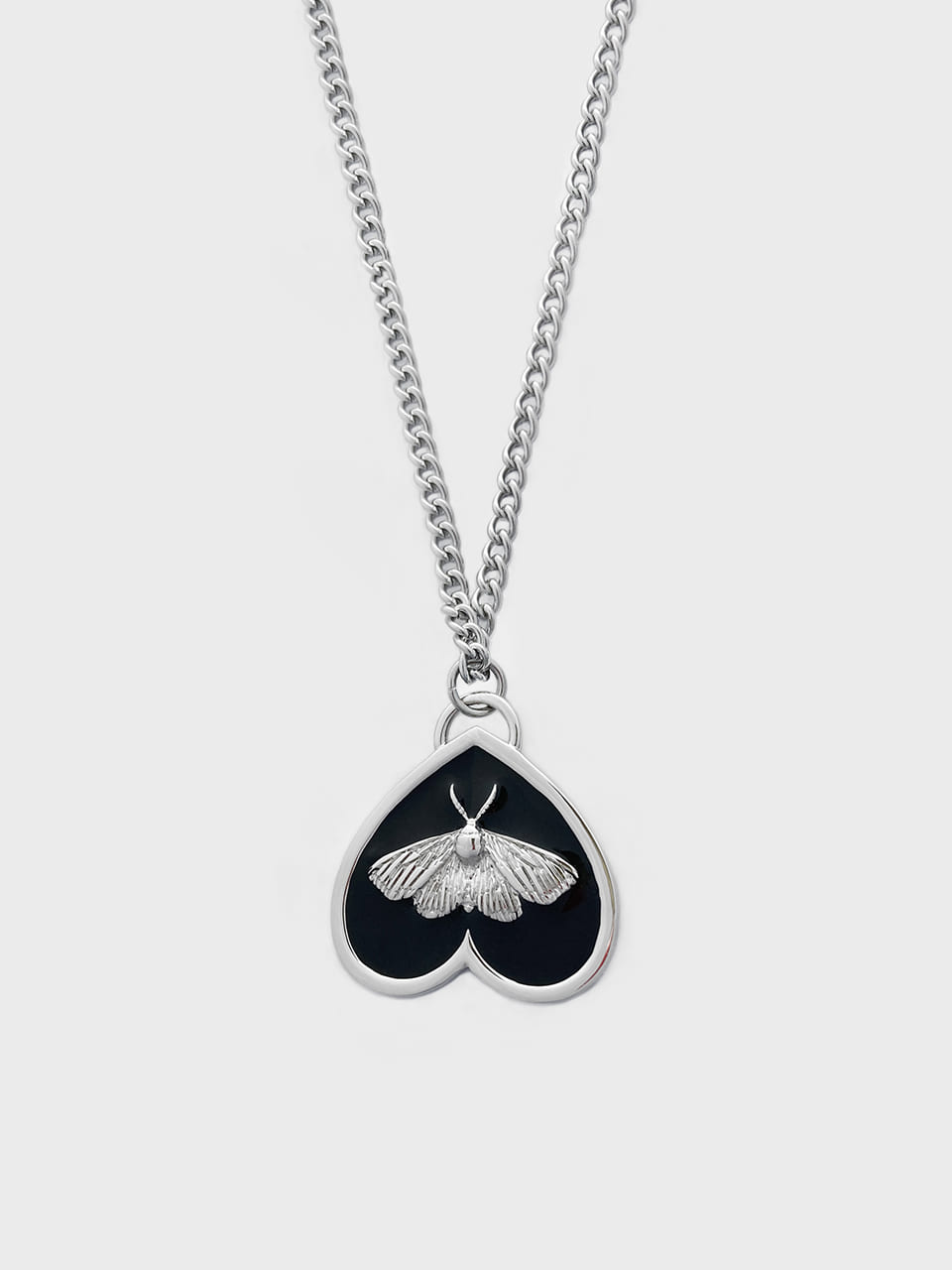 BRYN X FUZA MOTH PENDANT NECKLACE