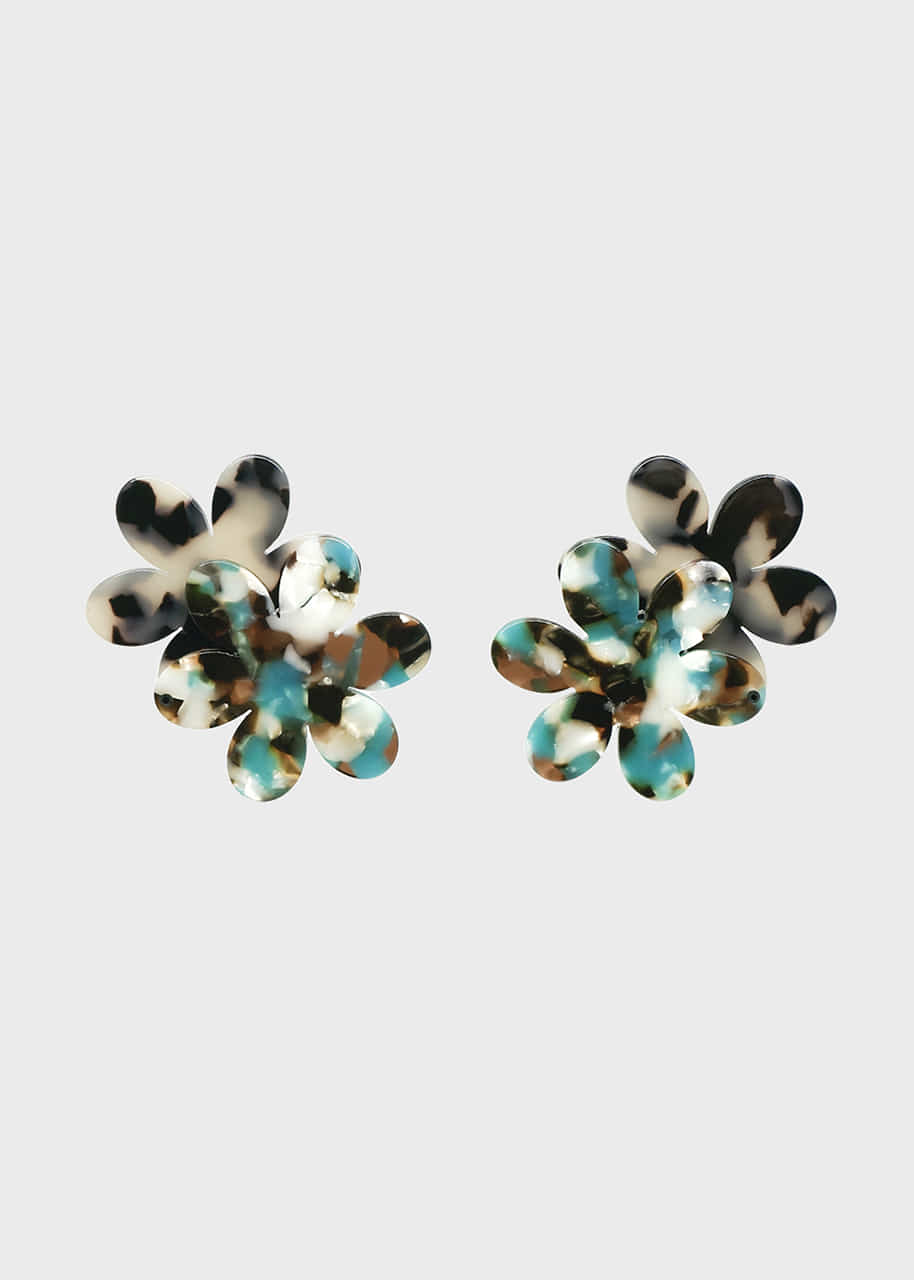 Leopard Double Flower Acrylic Earring 2 color